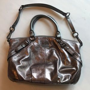 Coach Madison Sophia metallic purse tote bag